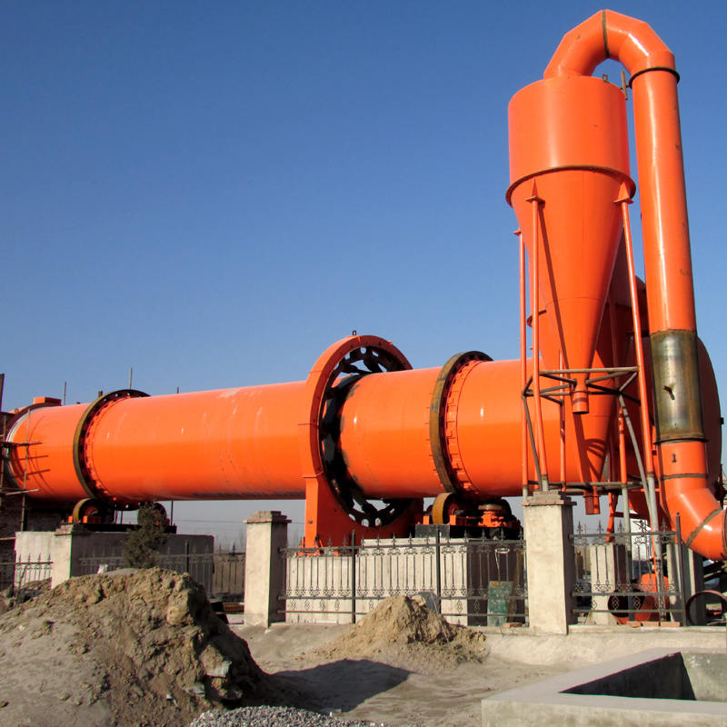 rotary dryers work site